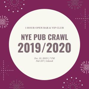 Pub Crawl Gdansk NYE 2019/2020